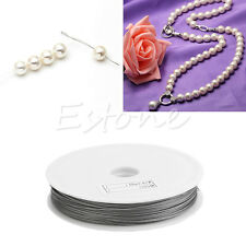 0.45mm DIY String Beads Tail Beading Metal Jewelry Silver Plated Wire Cord Roll