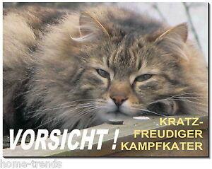 Hunde Schilder & Plaketten KöStlich Langhaarkatze-katze-alu-schild-0,5-3 Mm Dick-türschild-warnschild-hundeschild
