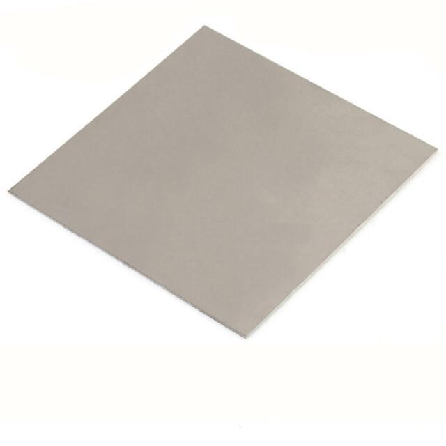 US Stock 3mm x 100mm x 100mm Titanium plate Ti Titan TC4 Gr5 Plate Sheet  Foil