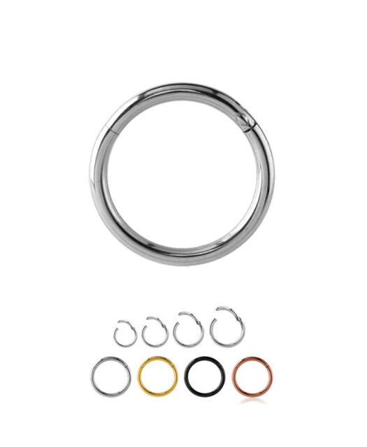"925 Sterling Silver Nose Ring Hoop Tragus Daith Cartilage Helix CZ 3//8/"" 18G"
