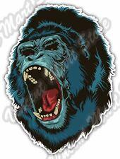 "Angry Gorilla Scary Head Back Off Car Bumper Window Vinyl Sticker Decal 4""X5"""