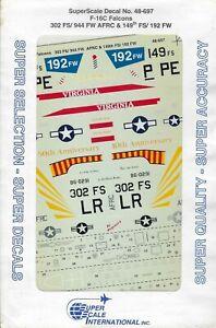F-16C Falcons 302 FS/944 FW AFRC & 149th FS/192 FW 1/48 Superscale 48-697