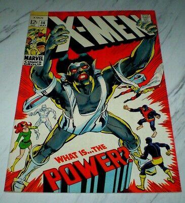 X-Men #56 NM+ 9.6 White pgs 1969 Marvel - 1st Living ...
