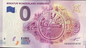 BILLET-SOUVENIR-TOURISTIQUE-EUROSCHEIN-MINIATUR-WUNDERLAND-HAMBURG-2019-6