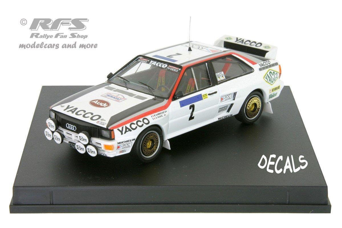 AUDI quattro-yacco-tour de France auto 1984-Darniche - 1 43 trofeu 1618