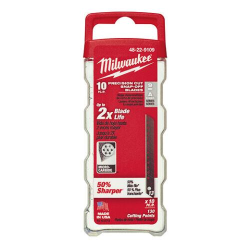 Milwaukee 10 x Abbrechklinge im Spender 9 mm Klingenbreite 13 Segmente