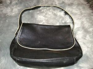33f6830f89 Image is loading Desmo-Handbag-Made-In-Italy-Black-Leather