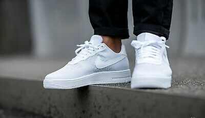 Nike Air Force 1 Flyknit White Platinum