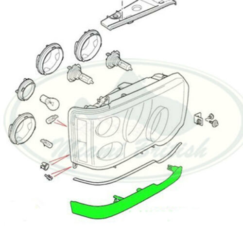 LAND ROVER HEADLAMP FINISHER RIGHT RH DISCOVERY 2 II 03-04 DHH000120LML PAINTED
