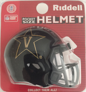 VANDERBILT COMMODORES NCAA Cupcake Cake Topper Mini Football Helmet