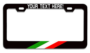 ITALIAN ITALY FLAG HEAVY DUTY CHROME License Plate Frame Tag Holder