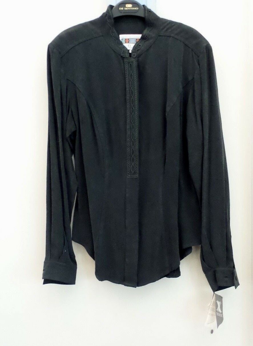 HAIRSTON ROBERSON  ROPA  TENCEL EMBROIDERED SHIRT, DARK GREEN, MEDIUM - NWT