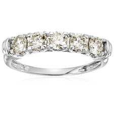 1 cttw AGS Certified SI2-I1 5 Stone Diamond Ring 14K White Gold