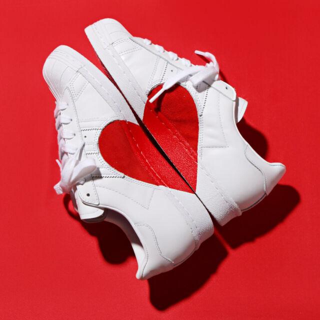 felicidad Camion pesado instante  adidas Superstar 80s HH W Half Heart Valentines Day White Red ...
