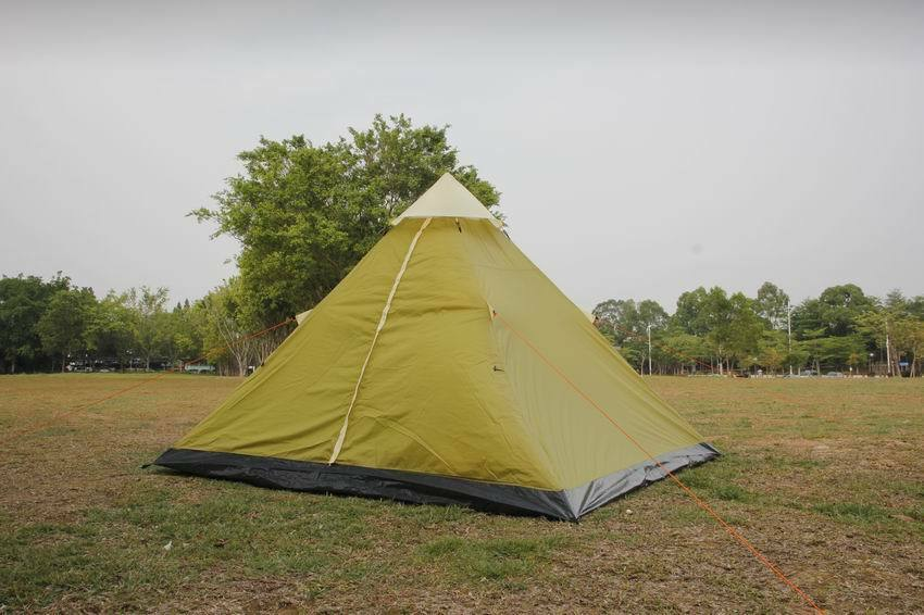 Camping Camping Camping tent 4 person tent Apache tent Waterproof & Mesh for door Ventilation 9da788
