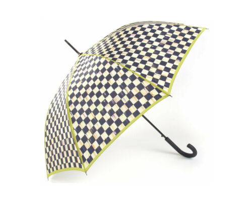 Mackenzie Childs COURTLY CHECK Umbrella BUMBERSHOOT Adult CHARTREUSE TRIM m19-j