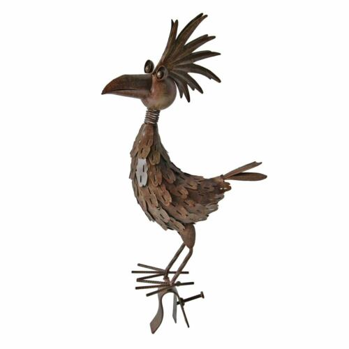 Skulptur Tier Metall Vogelskulptur Gartenfigur Kranich Vogel Taube Kakadu Figur