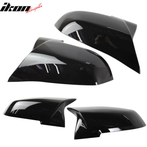Fits BMW E84 F20 F22 F32 F33 Pair M4 Replacement Glossy Black Mirror Covers