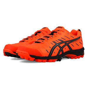 Asics-Mens-Gel-Hockey-Neo-3-Hockey-Shoes-Pitch-Field-Orange-Sports-Breathable