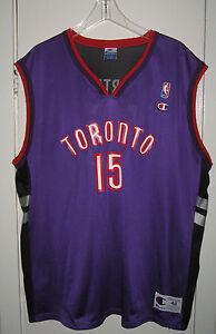 the latest 3f2f3 35e6e Details about Vintage Toronto Raptors Vince Carter Champion Jersey size 48