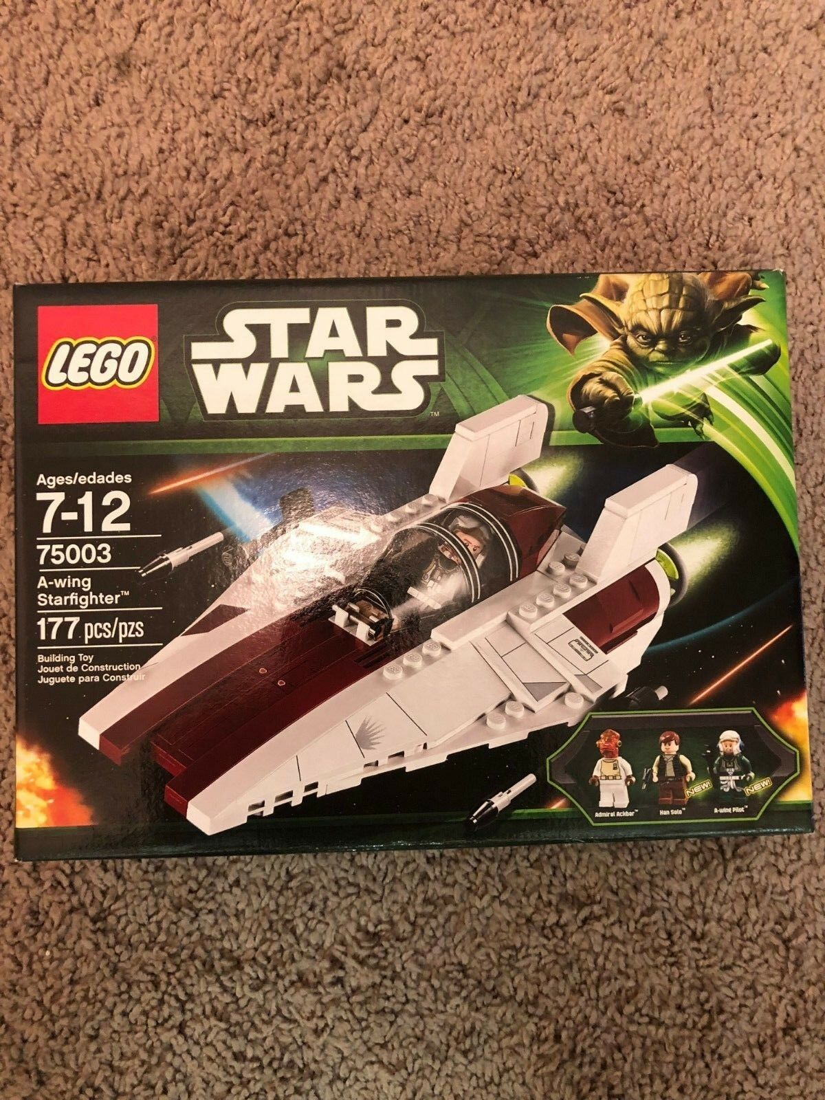 LEGO Star Wars 75003 - A-wing Starfighter - Retirosso, Nuovo in Sealed Box