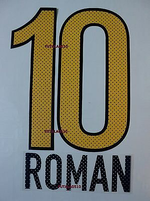 ROMAN # 10 BOCA JUNIORS 2012-2013 AWAY NAME AND NUMBER SET
