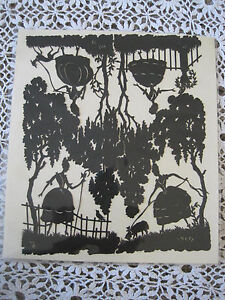 """Other Antique Decorative Arts Silhouettes On Paper Antique 7.5""""x6.3/4"""" Removing Obstruction Antiques"""