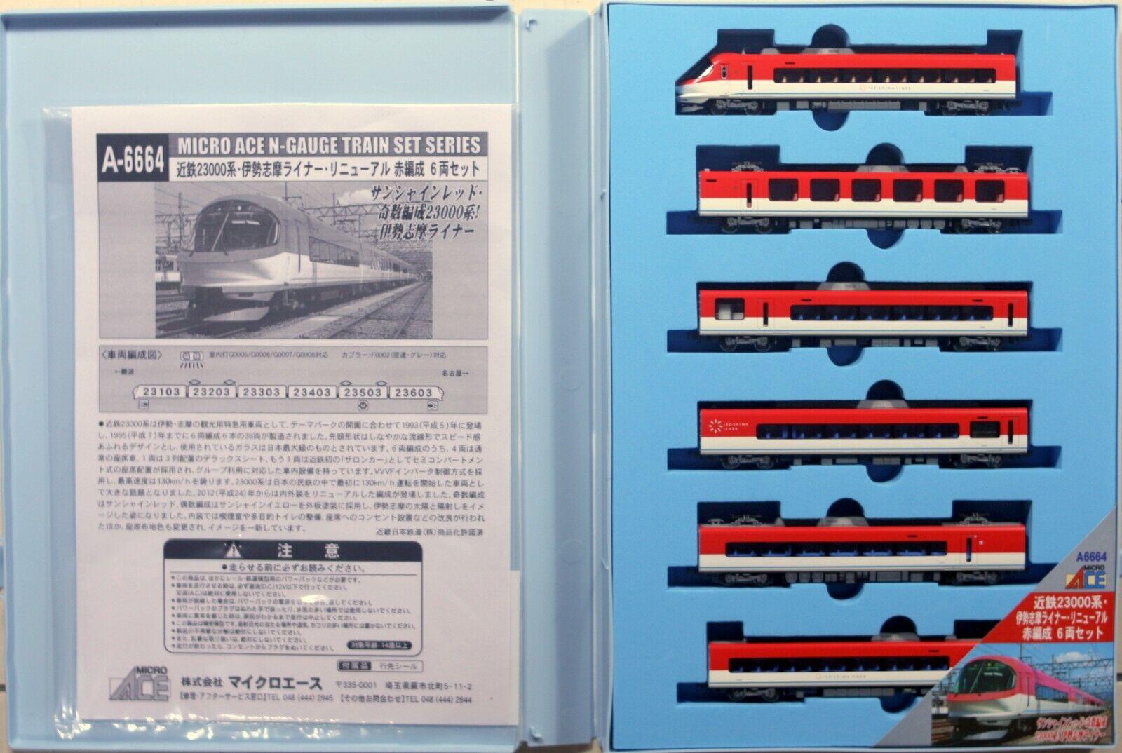 Mikroace N A664 Kintetsu Series 23000 'Iseshima Liner ' Renewal röd Formation