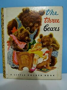 VTG-1948-A-LITTLE-GOLDEN-BOOK-034-THE-THREE-BEARS-034-COLOR-ILLUSTRATIONS-CLEAN-VG