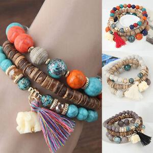 Wooden-Beads-Bracelet-Women-Bohemia-Elephant-Tassel-Charm-Bracelets-amp-Bangles-Hot