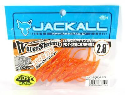 6998 Jackall Soft Köder Waver Shrimp Kurodai 2.8 Zoll Red Gold