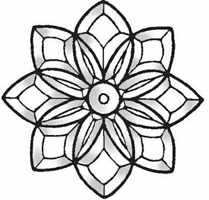 "Stained Glass Supplies Flower Bevel Cluster 10-3/8"" Diameter BC101"
