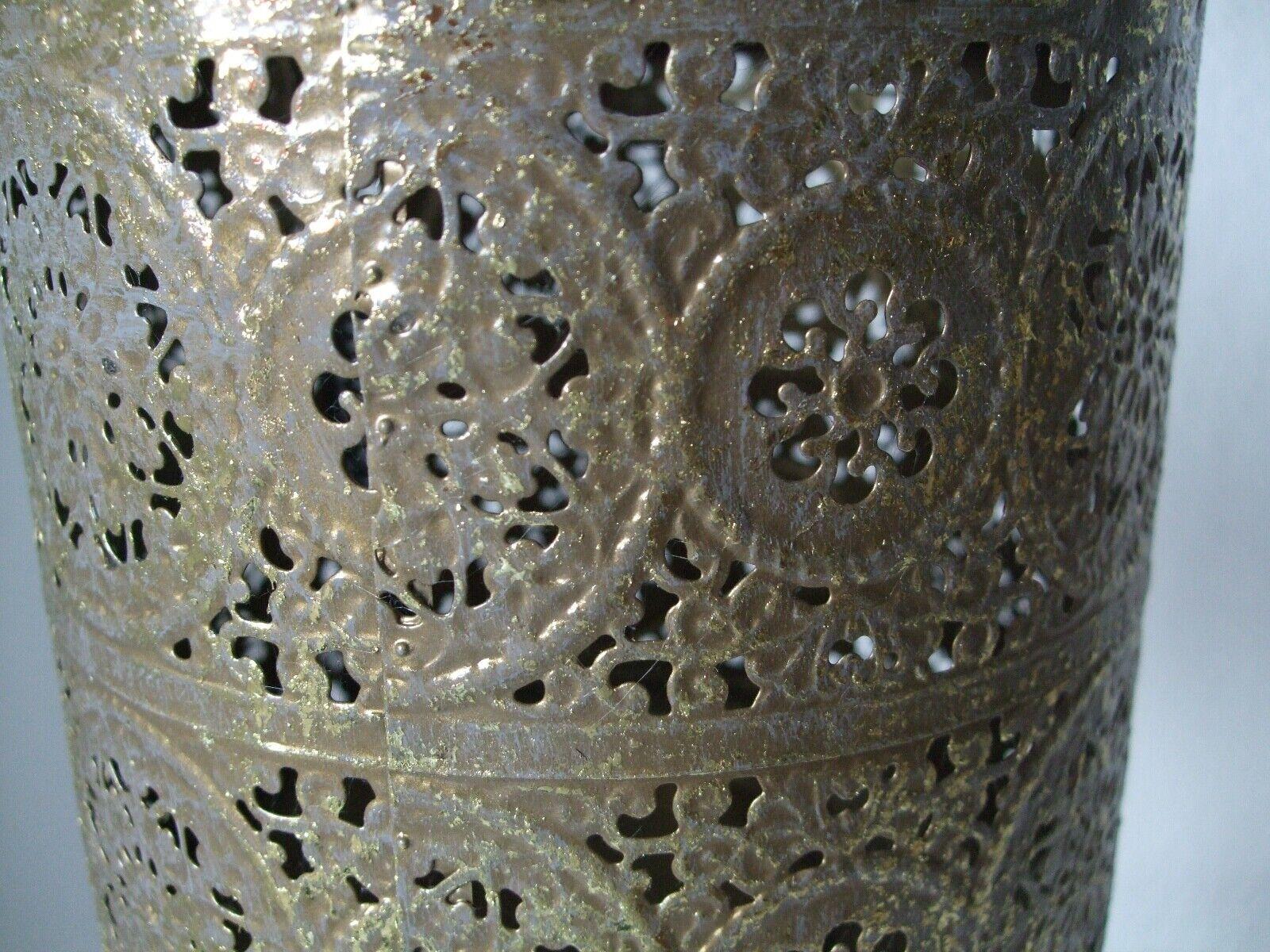 Teelicht Orientalisch Orientalisch Orientalisch auf Ständer matt Gold XXL 55d05a