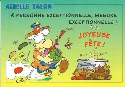 """ACHILLE TALON  ILLUSTRE PAR GREG /"""" EDITION 1995 Postcard CPM Réf 02039"""