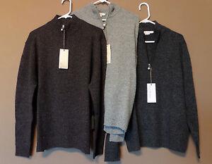 Nwt men 39 s enzo mantovani 100 wool 1 4 zip sweater ebay for Enzo mantovani