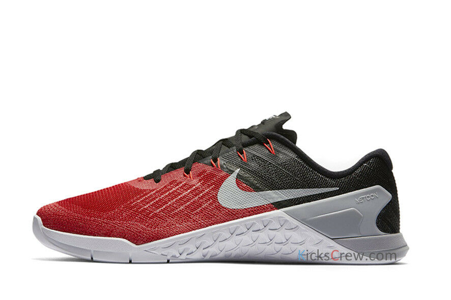 Nike Nike Nike metcon 3 hochschule schuhe sz 10 600 ROT / Weiß wolf grau 852928 d0c3ef