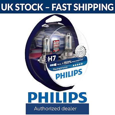 150/% More Light Set of 2 bulbs 12972RVS2 PHILIPS H7 Halogen Bulbs RacingVision