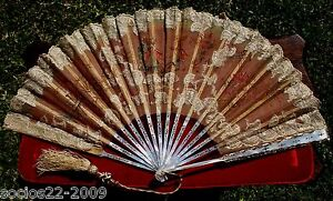 FAN-EVENTAIL-ANTIQUE-MOTHER-OF-PEARL-STICKS-AND-LACE-HAND-FAN