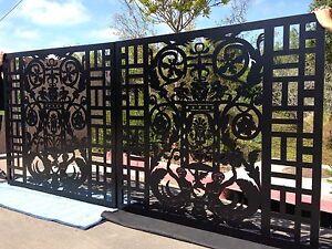 Driveway Gate Metal Art Italian Garden Wrought Iron Steel