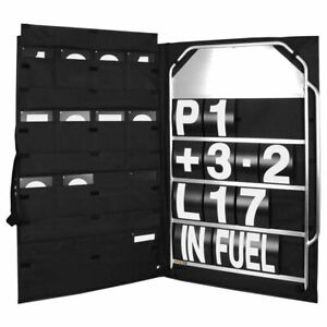 BG-Racing-Large-4-Row-Pit-Board-Kit-Pit-Board-White-Numbers-Bag