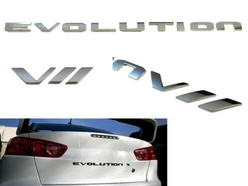 CHROME REAR TRUNK LETTERS BADGE EMBLEM FOR MITSUBISHI EVOLUTION VII 7 B