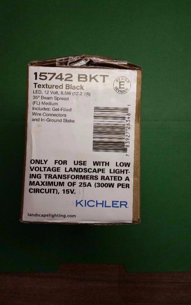 Kichler 15742BKT negro con textura 8.5 W 35 LED de luz de acento baja tensión de inundación