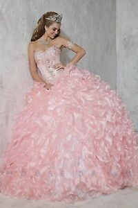 NWT-Size-8-Prom-Ball-Gown-Quinceanera-Collection-26784-PINK-jeweled-corset