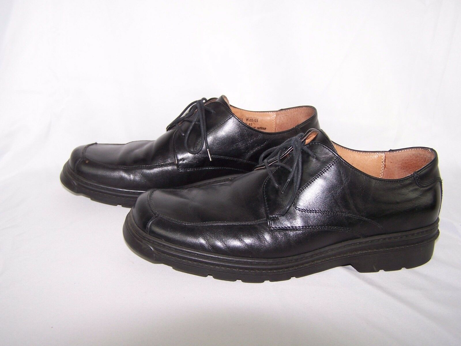 Bostonian Strada Uomo Size 10.5 Dress Dress 10.5 Shoes Nero Pelle Made in Italy 7a9a62