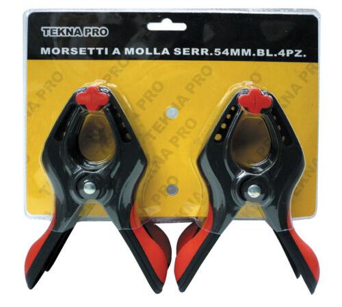 4 pz mini morsetti pinza a molla serraggio apertura 25 mm in acciaio