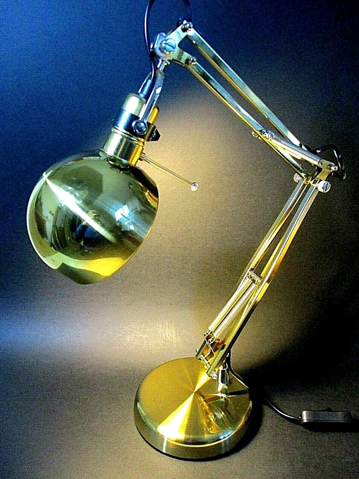 MULTI ANGLE DIRECTION POSEABLE LAMP - BRUSH BRASS FINISH - HEAVY BASE 28  - BNIB