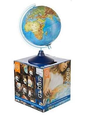 32cm kabellos Triple-A-Toys Leucht-Globus mit Reliefstruktur