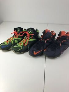 Nike-Lebron-XII-12-GS-Basketball-Shoes-Youth-Size-7Y-Lot-Of-2-Pair-Instinct-Dunk