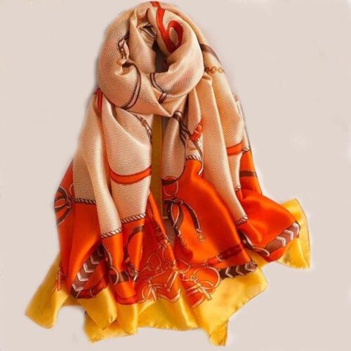 Silk Scarf 2019 New designer Woman Luxury Brand Long Scarves Large Shawl wraps