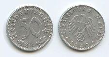 G4550 - Drittes Reich 50 Reichspfennig 1940 B Wien (J.372) KM#96 Third Reich
